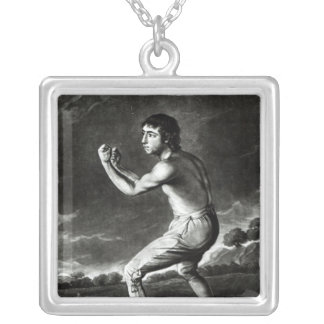 Portrait of Daniel Mendoza Silver Plated Necklace
