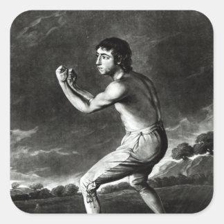 Portrait of Daniel Mendoza Square Sticker