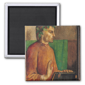 Portrait of Dante Alighieri , c.1475 2 Inch Square Magnet