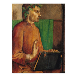 Portrait of Dante Alighieri , c.1475 Postcard