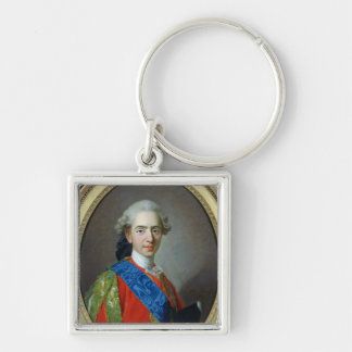 Portrait of Dauphin Louis of France Silver-Colored Square Keychain