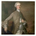 Portrait of David Garrick (1717-79), 1742 (oil on Ceramic Tile