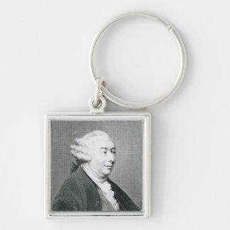 Portrait of David Hume Keychain