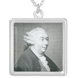 Portrait of David Hume Silver Plated Necklace