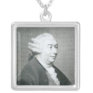 Portrait of David Hume Square Pendant Necklace