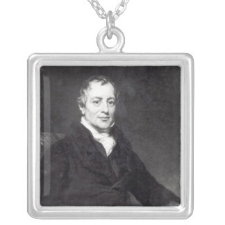 Portrait of David Ricardo Silver Plated Necklace
