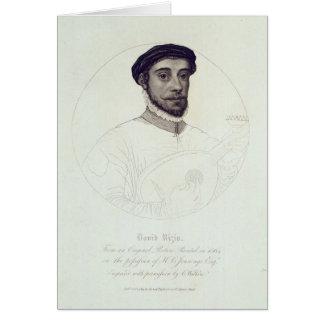 Portrait of David Rizio,an original painted Greeting Card