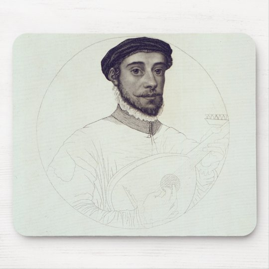 Portrait of David Rizio,an original painted Mouse Pad