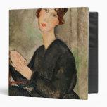 Portrait of Dedie Hayden, 1918 3 Ring Binder