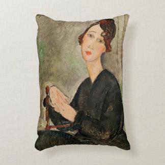 Portrait of Dedie Hayden, 1918 Accent Pillow