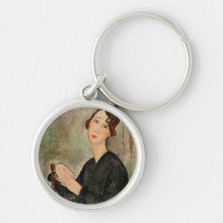Portrait of Dedie Hayden, 1918 Keychain