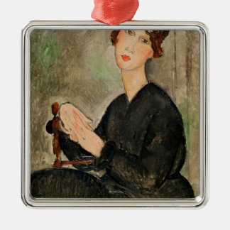 Portrait of Dedie Hayden, 1918 Metal Ornament