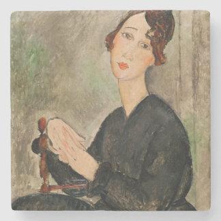 Portrait of Dedie Hayden, 1918 Stone Coaster