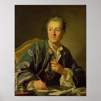 Portrait of Denis Diderot  1767 Poster