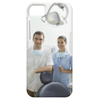 Portrait of dentist and his assistant in a iPhone SE/5/5s case