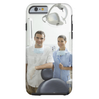 Portrait of dentist and his assistant in a tough iPhone 6 case