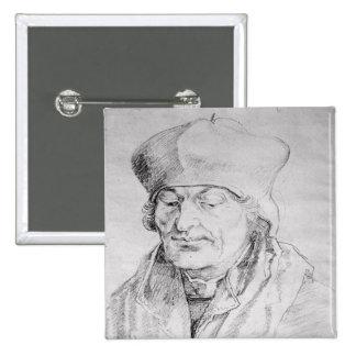 Portrait of Desiderius Erasmus  1520 Button