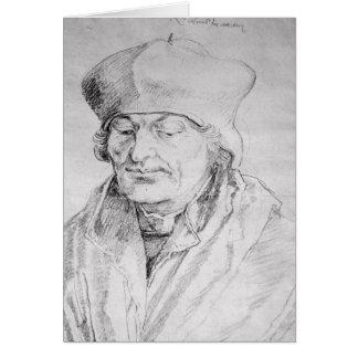Portrait of Desiderius Erasmus  1520 Card