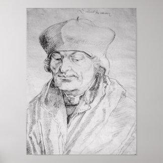 Portrait of Desiderius Erasmus  1520 Poster