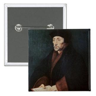 Portrait of Desiderius Erasmus  of Rotterdam Pinback Button