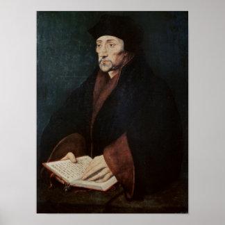 Portrait of Desiderius Erasmus  of Rotterdam Poster