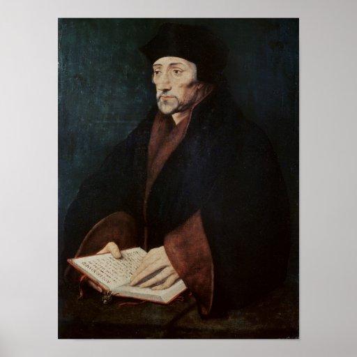 Portrait of Desiderius Erasmus  of Rotterdam Posters