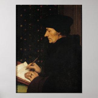 Portrait of Desiderius Erasmus Poster