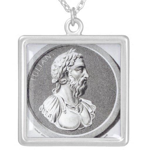 Portrait of Didius Julianus Square Pendant Necklace