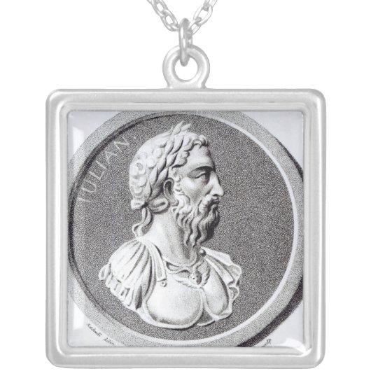 Portrait of Didius Julianus Silver Plated Necklace