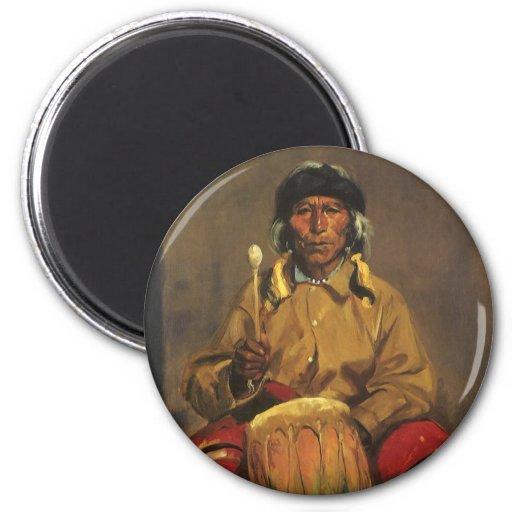 Portrait of Dieguito Roybal by Robert Henri 2 Inch Round Magnet