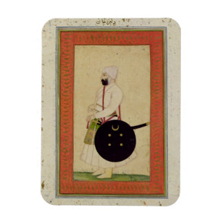 Portrait of Dilir Khan, c.1760, from the Large Cli Rectangular Photo Magnet