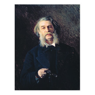 Portrait of Dmitri Vasilievich Grigorovich Postcard