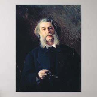 Portrait of Dmitri Vasilievich Grigorovich Poster