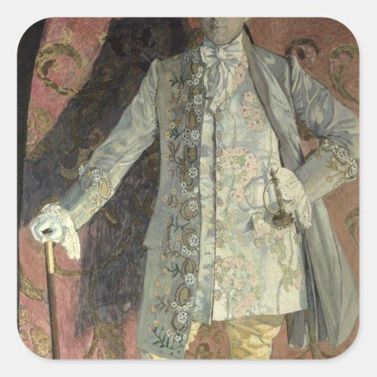 Portrait of Dmitry Smirnov Square Sticker