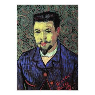 Portrait of Doctor Felix Rey by Vincent van Gogh Personalized Invitation