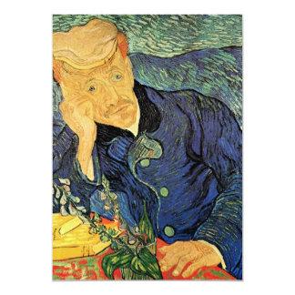 Portrait of Doctor Gachet by Vincent van Gogh Custom Invite