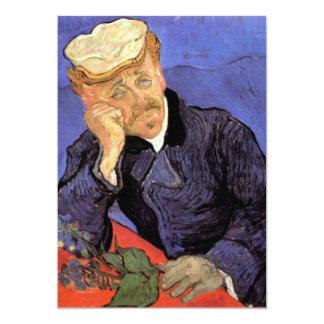 Portrait of Doctor Gachet by Vincent van Gogh Custom Invitation