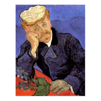 Portrait of Doctor Gachet by Vincent van Gogh Postcard