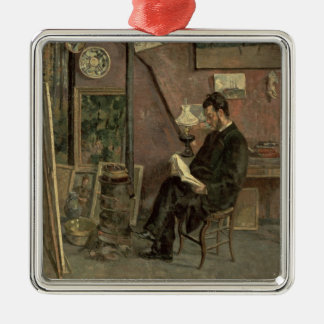 Portrait of Doctor Martinez, 1878 (oil on canvas) Metal Ornament
