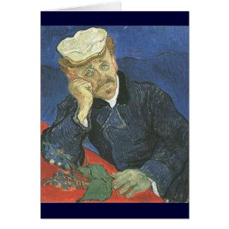 Portrait Of Doctor Paul Gachet Card