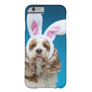 Portrait of dog wearing Easter bunny ears Barely There iPhone 6 Case