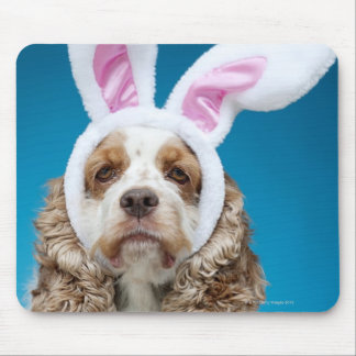 Portrait of dog wearing Easter bunny ears Mouse Pad