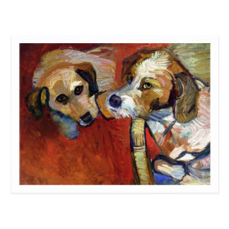 Portrait of Dogs by Suzanne Valadon Postcard