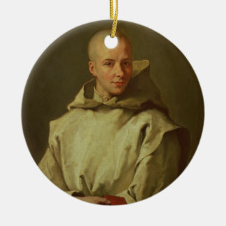 Portrait of Dom Baudouin du Basset of Gaillon, 171 Ceramic Ornament