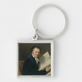 Portrait of Dominique Vivant  Baron Denon, 1808 Silver-Colored Square Keychain