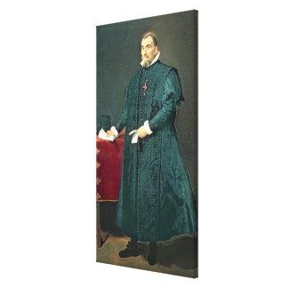 Portrait of Don Diego de Corral y Arellano Canvas Print