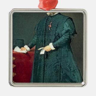 Portrait of Don Diego de Corral y Arellano Metal Ornament