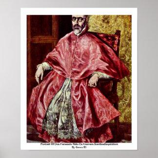 Portrait Of Don Fernando Print