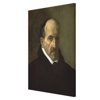 Portrait of Don Luis de Gongora y Argote  1622 Canvas Print