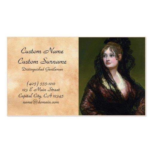 Portrait of Dona Isabel de Cabos Porsel   de Goya Business Card